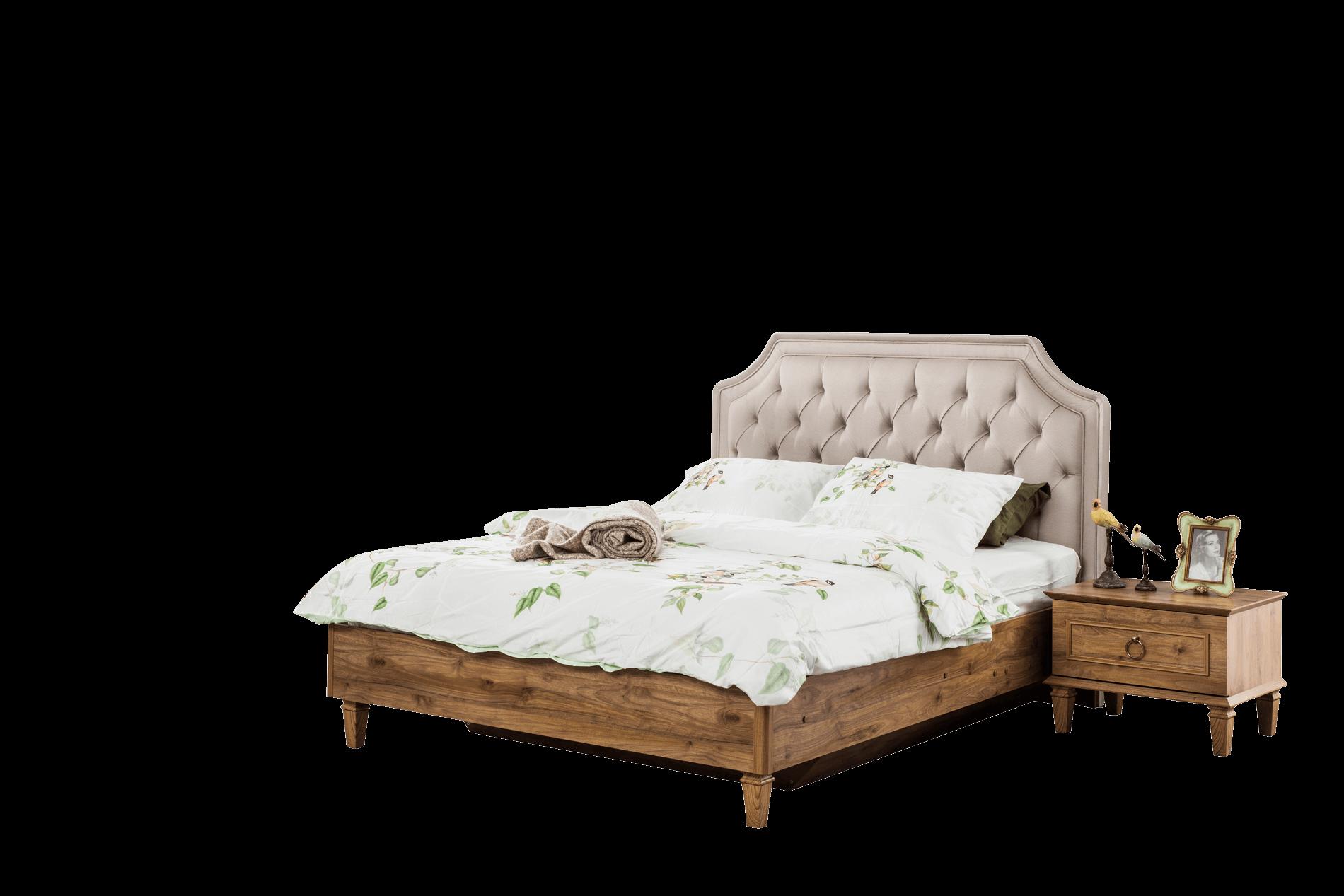 Angel Ceviz Yatak Odası Karyola+Başlık