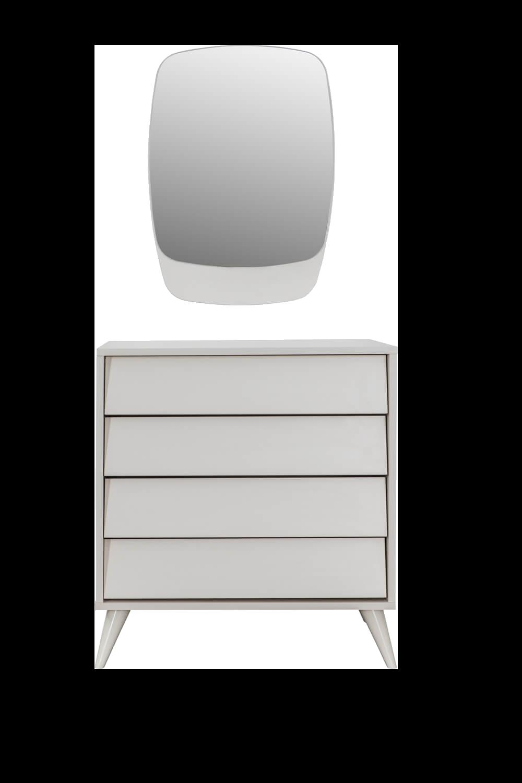 Luna Ekru Aynalı Şifonyer