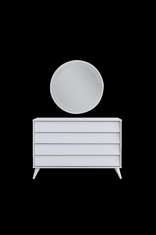 Luna Beyaz Yatak Odası Şifonyer
