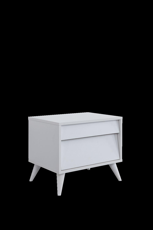 Luna Beyaz Yatak Odası Komodin