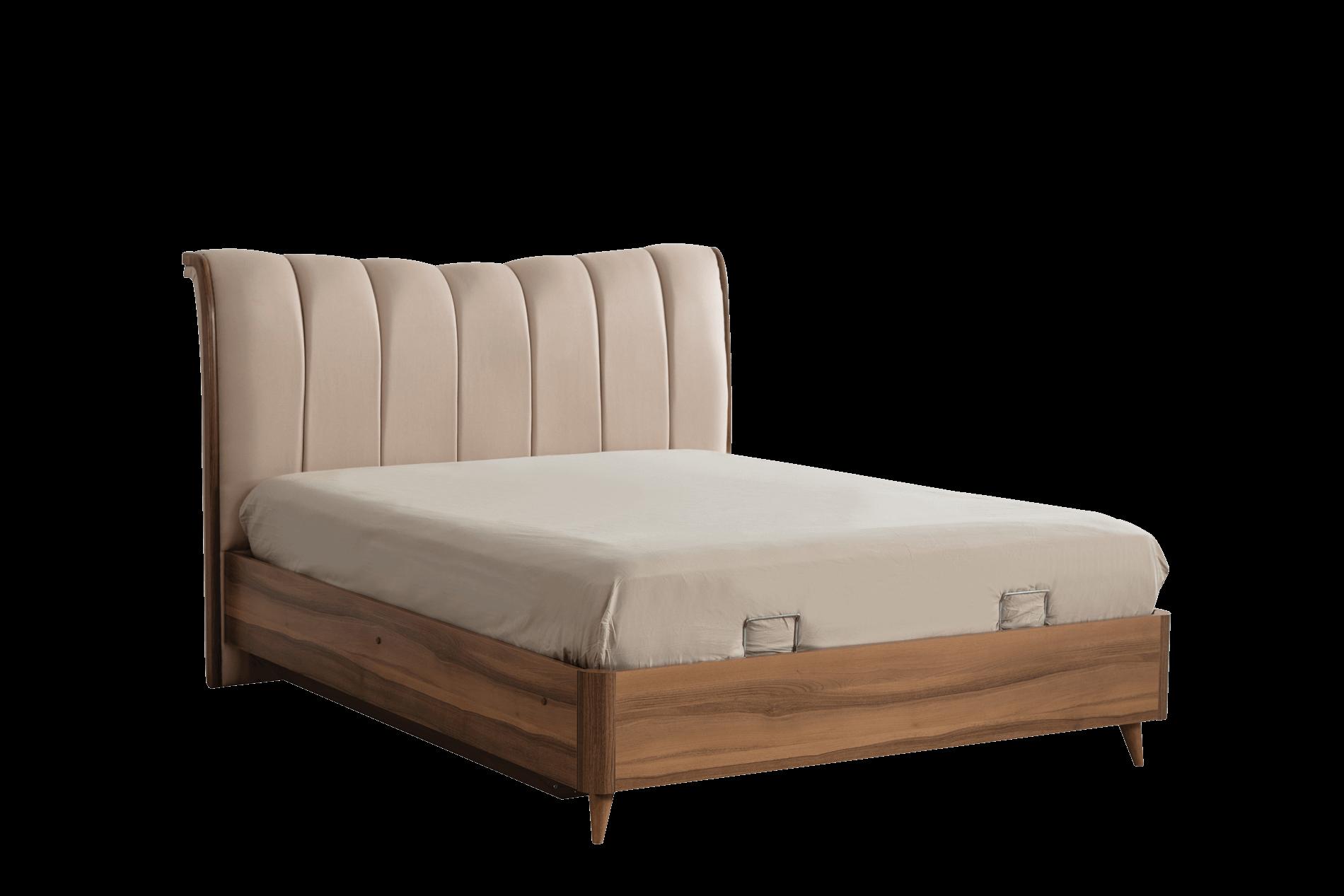 Selçuklu Yatak Odası Bazalı Karyola+Başlık